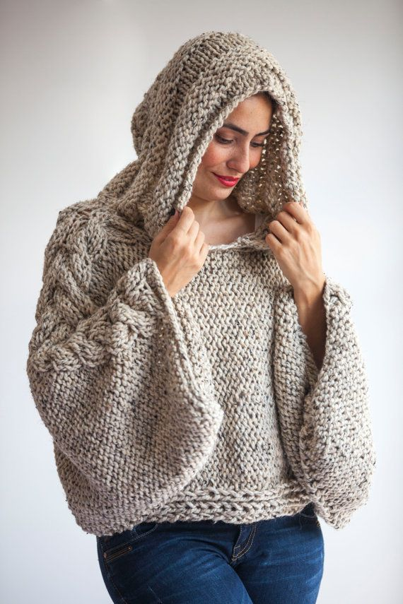 Plus Size Knitting Sweater Capalet