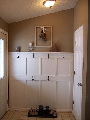 Entryway Two Stacked Levels Of Board And Batten And
