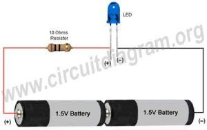 Simple Basic LED Circuit   Circuit Diagram   electronics