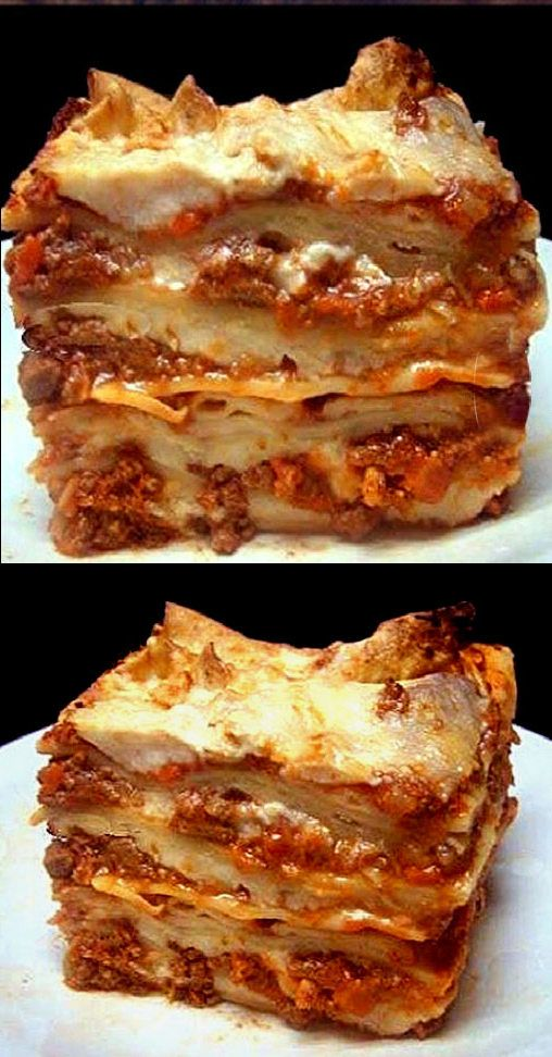 Authentic Lasagna Bolognese. The meatiest, creamiest, cheesy lasagna youll ever have. Everything from scratch!