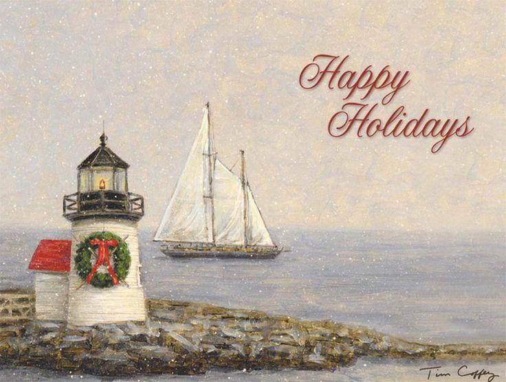 Nautical Christmas Cards Sailing Christmas Lighthouses