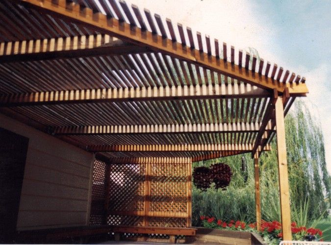Pergola Overhead Shade Structures Outdoors Pinterest