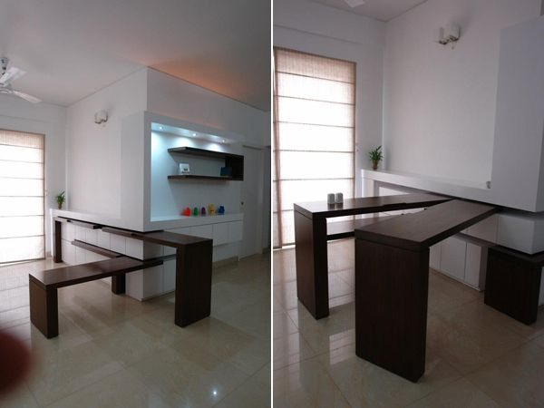 This Amazing Retractable Dining Table Was Conceived By