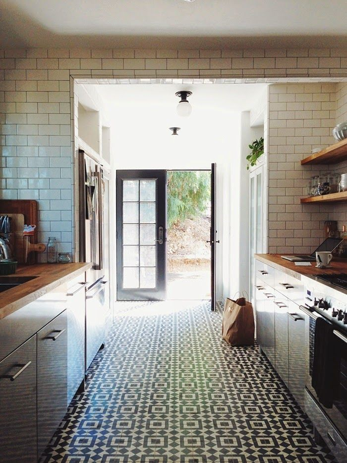 black and white tile kitchen cement Google Search