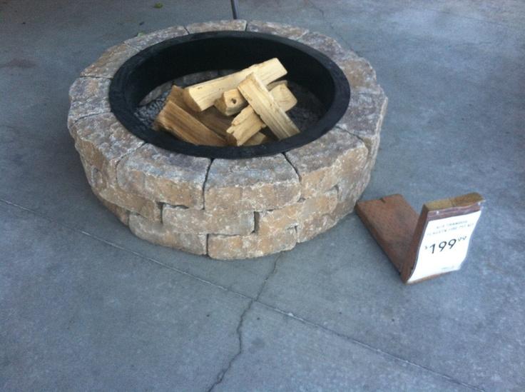 Lowe's fire pit kit 199 Outdoors Pinterest Fire