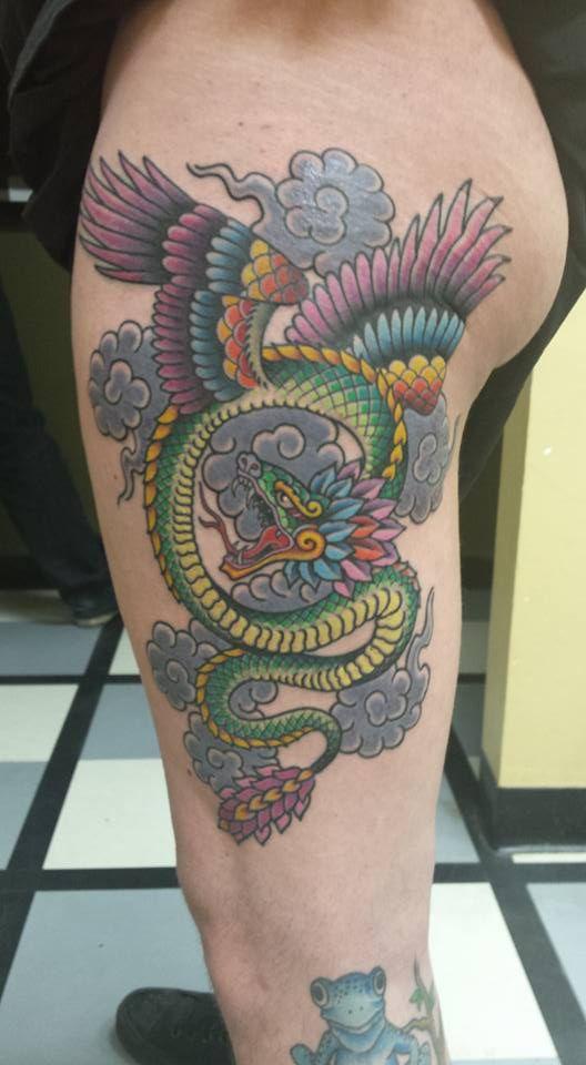Aztec God Quetzalcoatl Tattoo Design
