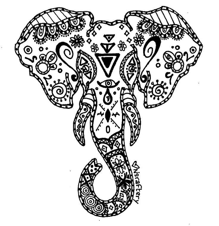 elephant mandala coloring pages aaldtk