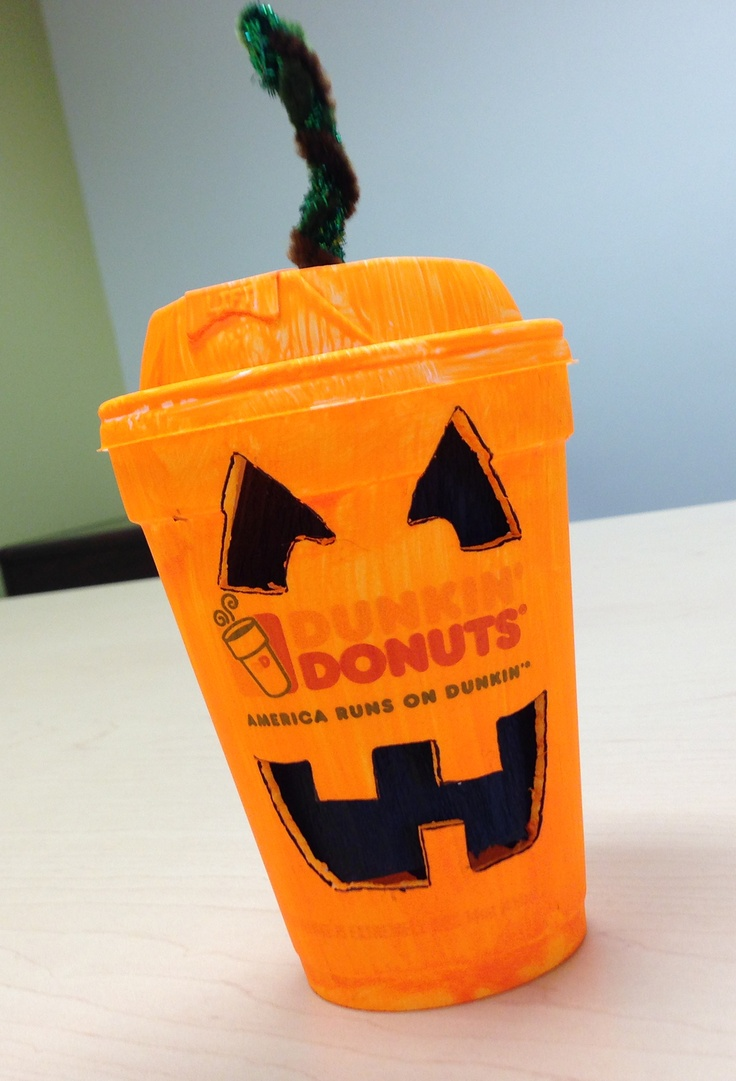 Smile, it's Halloween! Dunkin' Cup Costumes Pinterest