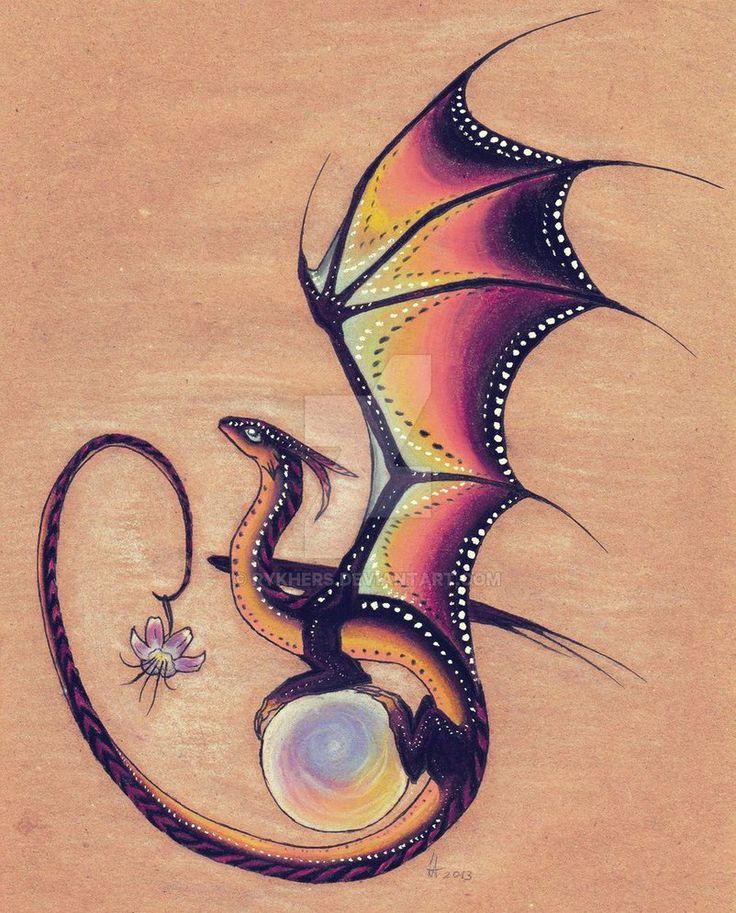 Twilight Dragon by Rykhers Always wanted a cute dragon
