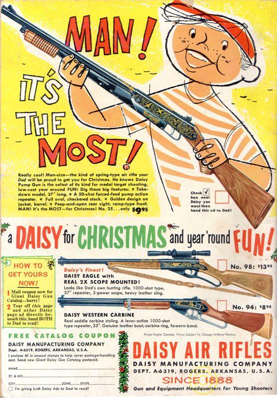 a Daisy for Christmas; Daisy Air Rifles; Toy gun Vintage