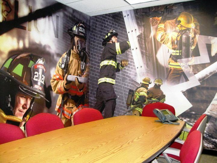 Fire Station Office Fabulous Wall Mural Www