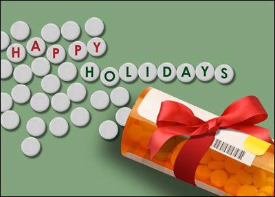 Pharmacy Christmas Card Glossy White 01800 Holiday