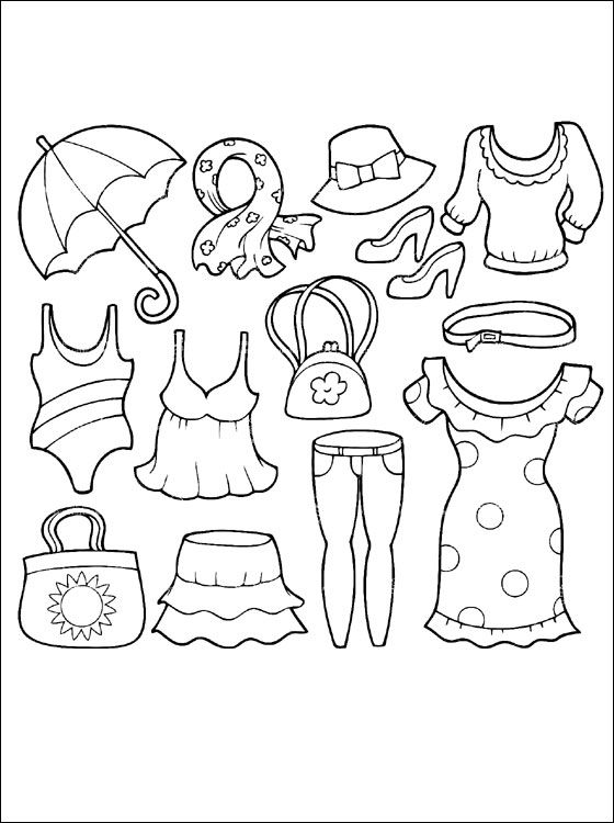 Evening dress coloring page | Coloring pages | 750x560