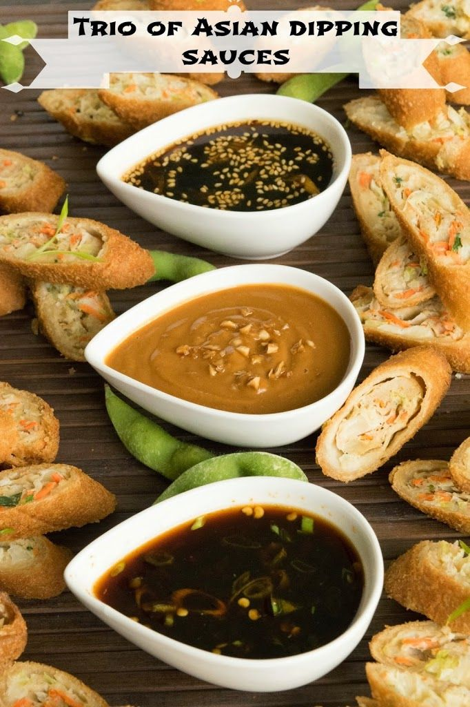 Sweet, spicy and savory. 3 classic flavors come together in a trio of Asian dipping sauces that showcase a