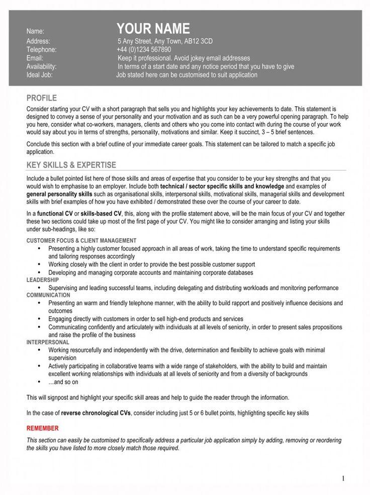 Rachel Vincent CV guidelines Back to work Pinterest