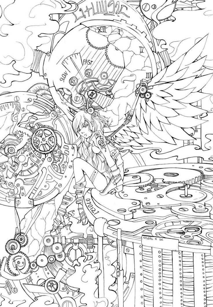 detailed for adults la steampunk angel by ravenlael