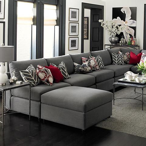 grey black white living room