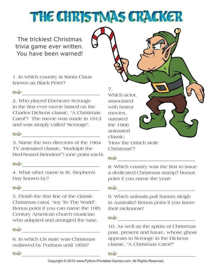 Christmas Cracker Hard Trivia, 3.95 Christmas