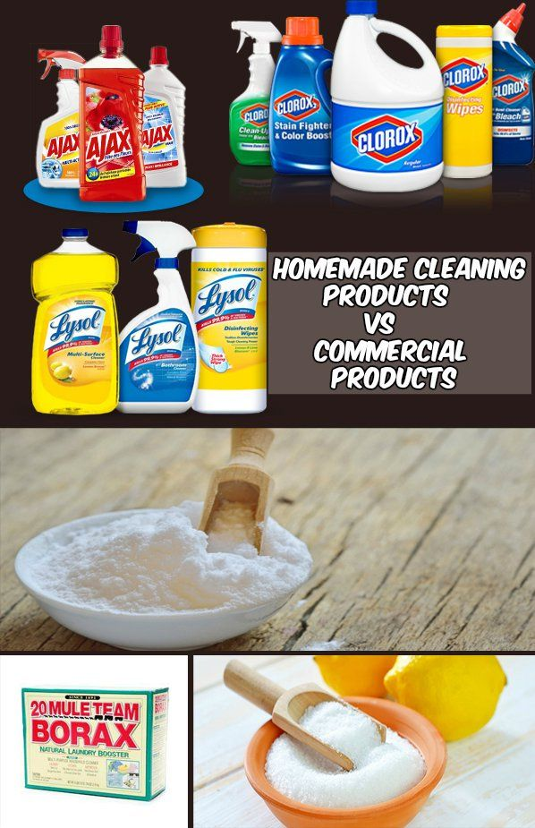 Homemade Cleaning Products VS Commercial Products