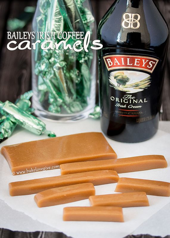 The very idea of this makes my mouth water.  Bailey's Irish coffee caramels – bake.love.give.