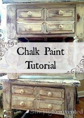 Simply Reinvented Tutorials Chalk Paint Clear Wax Dark