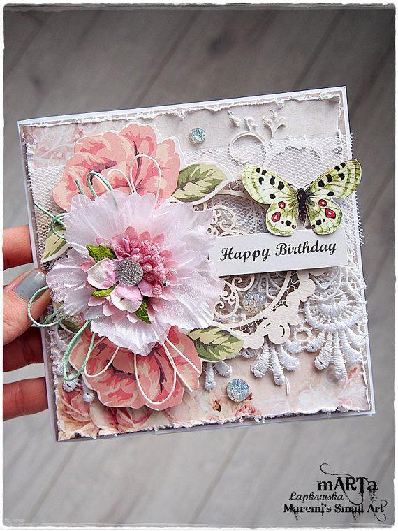 Handmade Happy Birthday Card, Birthday Wishes, 3D greeting