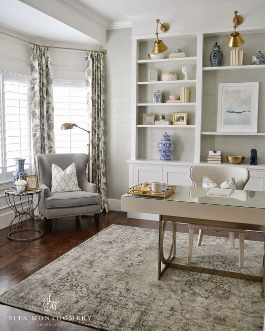 Gallerie B Friday's Favourites. Beautiful home office makeover by Sita Montgomery.: