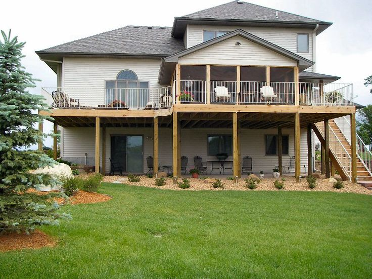 Walkout Basement Deck New Single Family Homes And