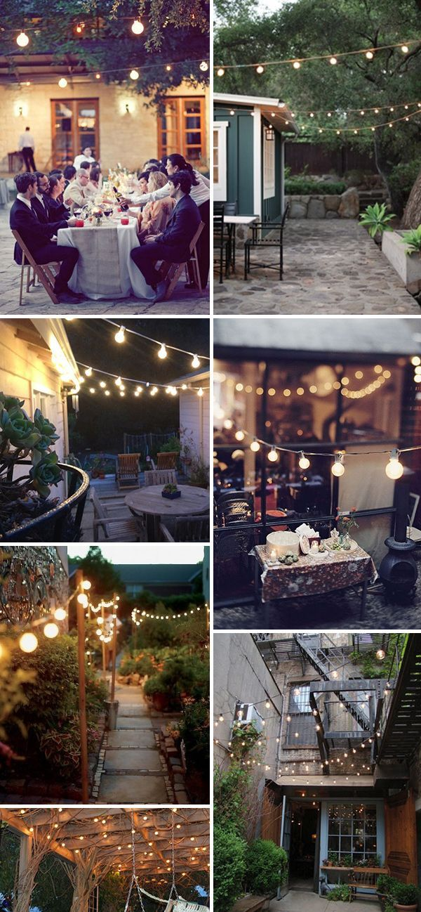Festoon lighting!!! Long table party inspiration