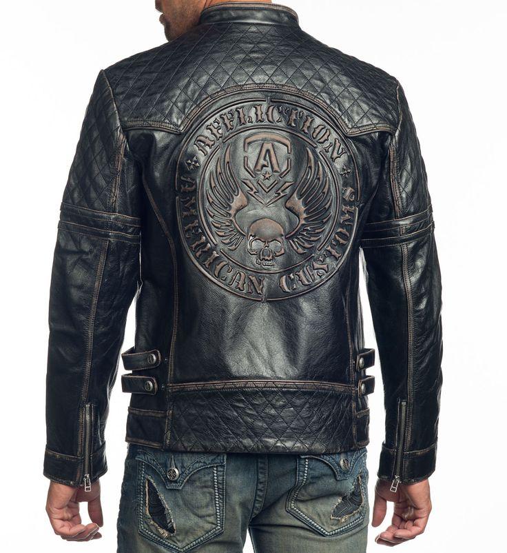 Affliction Clothing. Breaking Free Leather Jacket.