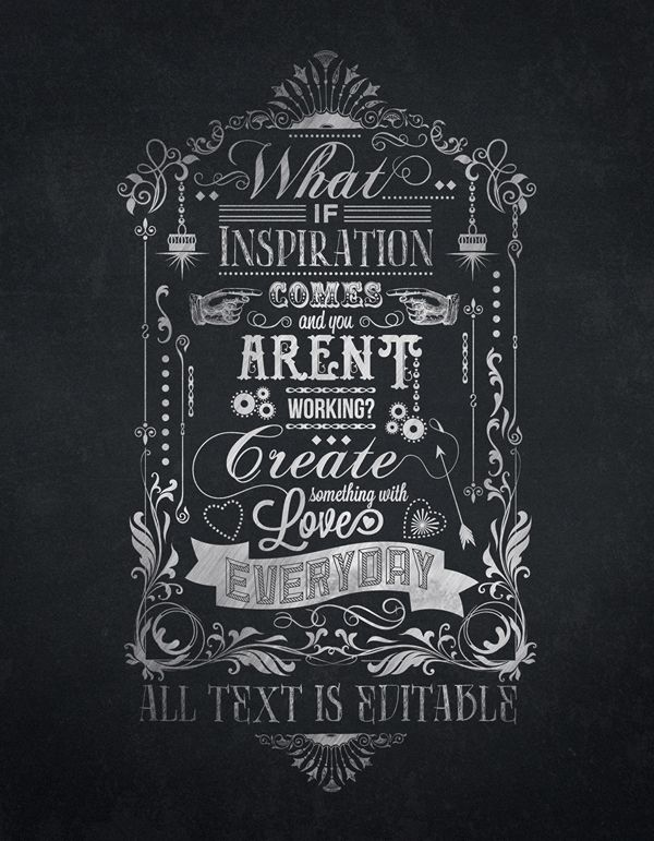 Typography Template. 1000 ideas about chalkboard typography on ...