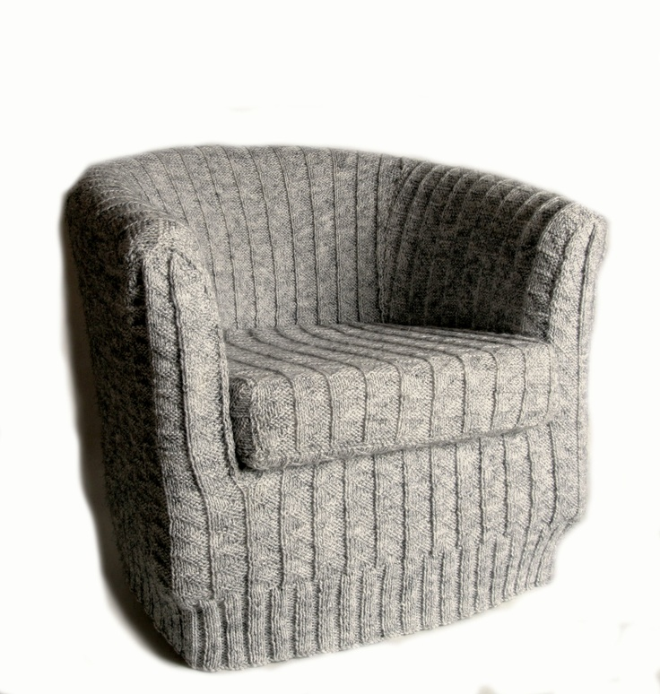 Sneak peak at AW12 Toft Alpaca's Knitted tub chair cover