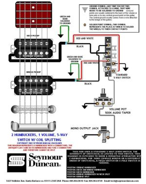 getting all the strat tones with 2 humbuckers How to wire? | Guitar Wiring Diagrams | Pinterest