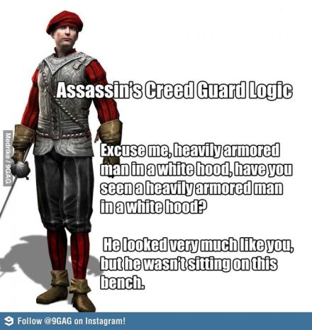 Image result for dumb guards assassins creed