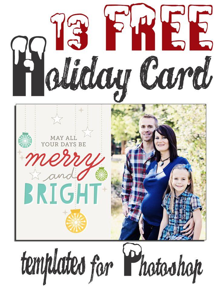 Free Christmas Holiday Card Templates HUGE