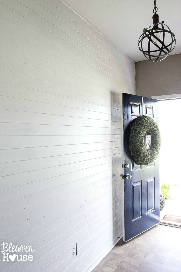 DIY Faux Shiplap Wall Plank Walls Plywood And Shiplap