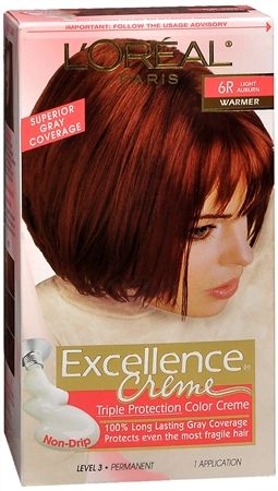 LOreal Excellence Creme 6R Light Auburn Warmer More