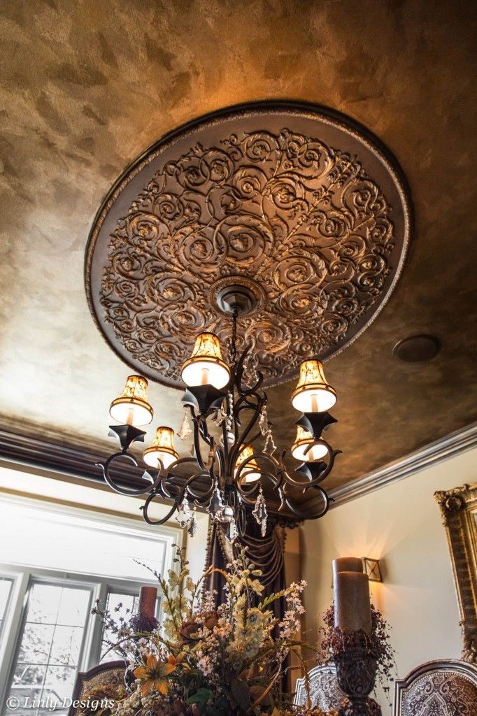 for master bedroom or dining room ceiling …medallion & ceiling color