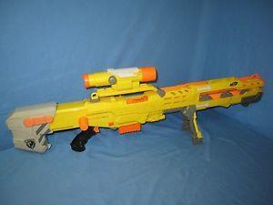Nerf N Strike Yellow Longshot Cs 6 Blaster Sniper Rifle