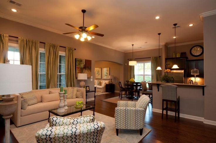 Open Floor Plan- Kitchen, Living Room And Hearth Room