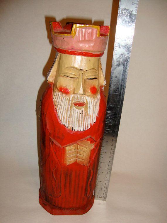Vintage Wine Or Liquor Bottle Holder Wood Wooden King Box