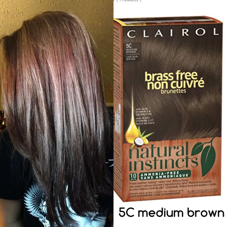 Clairol Natural Instincts And After