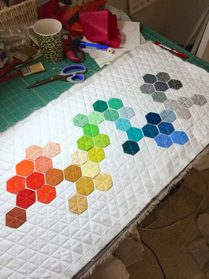 17 Best Images About Modern Hexies On Pinterest Quilt