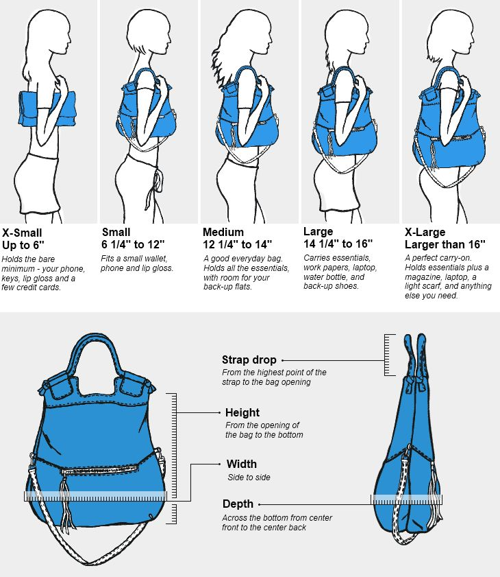 Handbag Size Chart Click to enlarge. Bags Pinterest