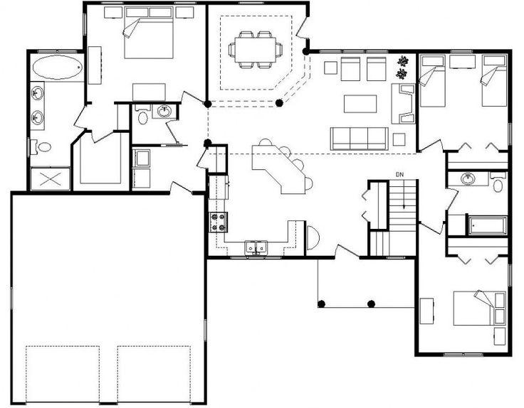25+ Best Ideas About Open Floor Plan Homes On Pinterest