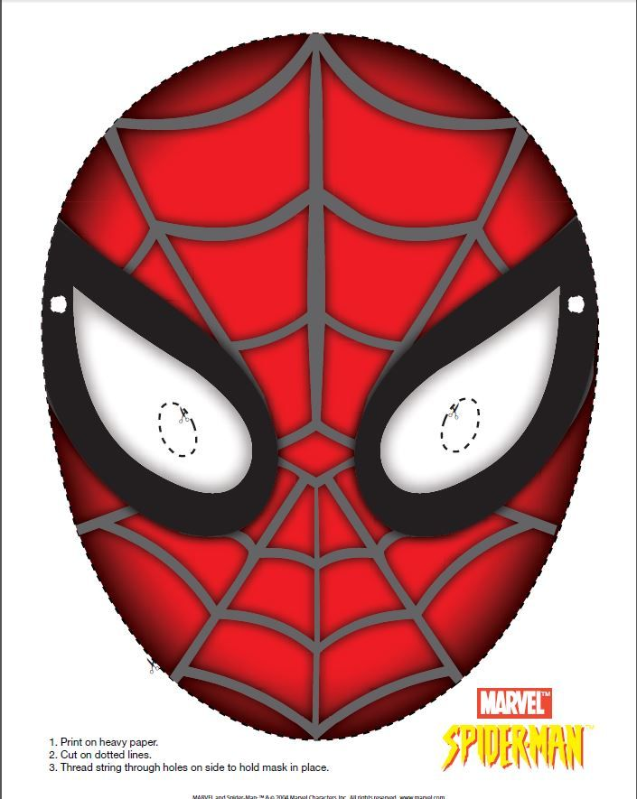 great spiderman mask to print from leapsterworld com go to this link
