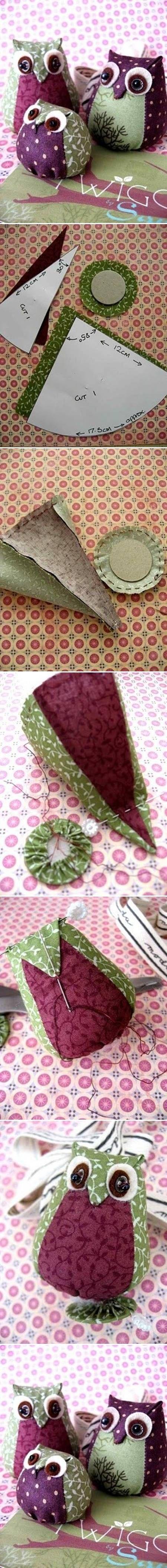 DIY Easy Fabric Owl DIY Easy Fabric Owl