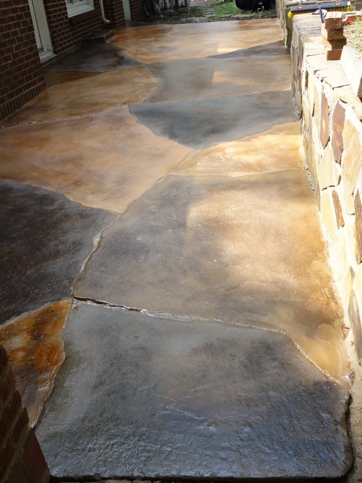 25 Best Ideas About Concrete Patio Stain On Pinterest