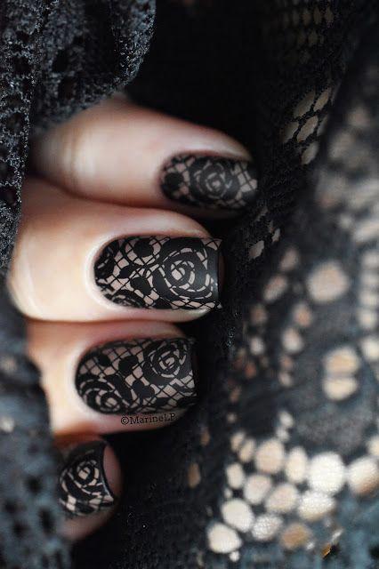 Un soupçon de dentelle… – lace nails with pueen27