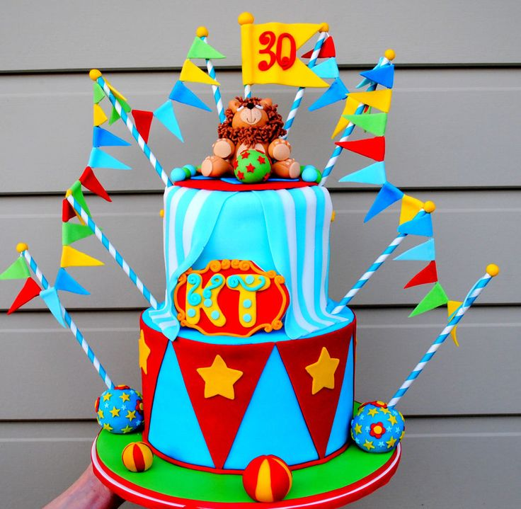 17 Best Images About Circus Clown Carnaval Cakes On